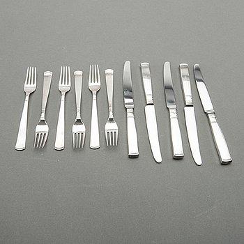 A Swedish 20th century 22 pcs silver cutlery mark of GAB 1970, total weight 617 gr.