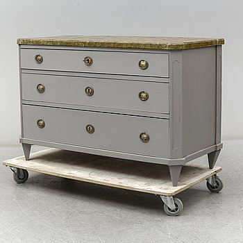 An end of the 20th Century painted chest of drawers.
