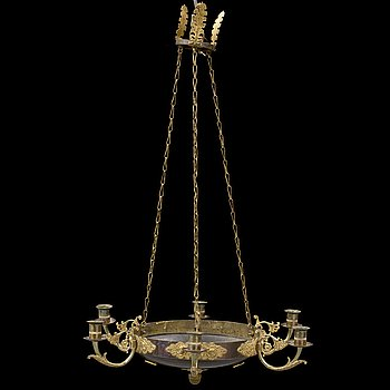 A 20th century hanging lamp.