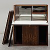 Paul cadovius, a rosewood book case, denmark, mid 20th century.
