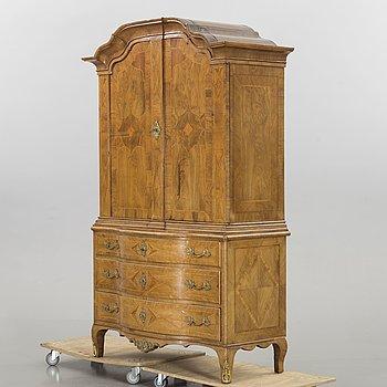 A Swedish Rococo cupboard, mid 1700's.