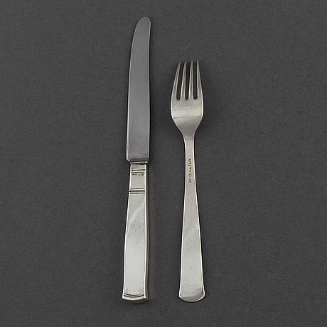 "Jacob Ängman, smörgåsbestick, 24 delar, silver, ""rosenholm"", gab stockholm bl a 1949"