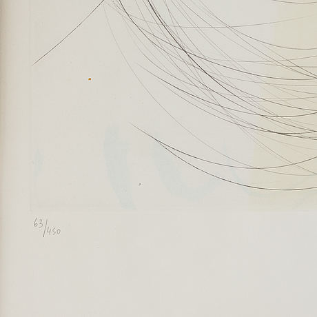 Salvador dalÍ, etching printed in colours with drypoint, and coloured with stencil, 1974, signed and numbered 63/450.