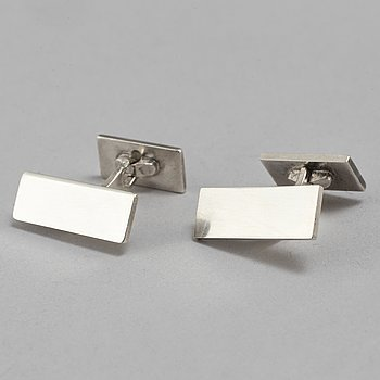 WIWEN NILSSON, a pair of sterling silver cuffinks. Lund 1947 and 1951.
