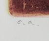 Carl otto hultén, färgetsning, sign.