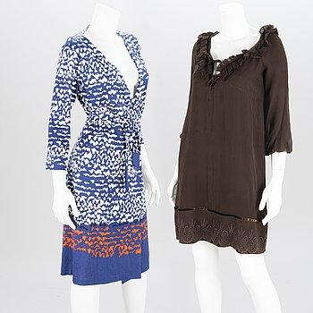DIANE VON FÜRSTENBERG Two Silk Dresses.