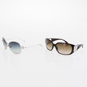 CHANEL Two Pairs of Sunglasses.