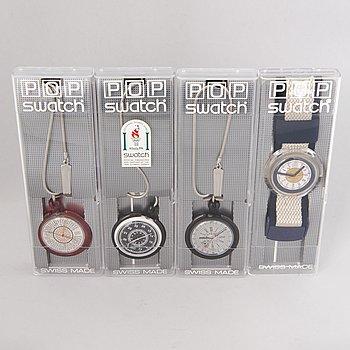 POP SWATCH, watches, 4 pcs.