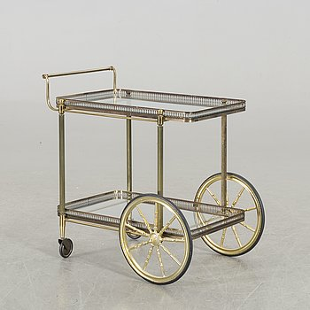A SERVING TROLLEY, second half of 20th century.
