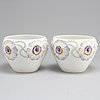 A pair of early 20th century porcelain flower pots by rörstrand