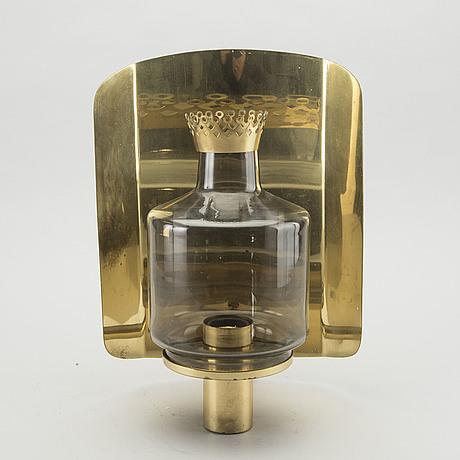 Hans agne jakobsson, a brass wall light 1960 70's