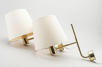 HANS-AGNE JAKOBSSON, a pair of wall lights.