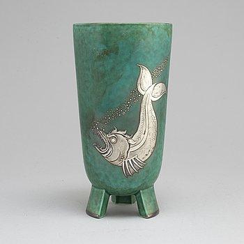 A stoneware vase by Wilhelm Kåge, Gustavsberg, year letter B.