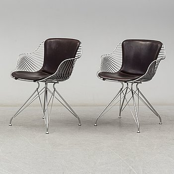 A pair of 'Wire' chairs by Overgaard & Dyrman, 21st Centruy.