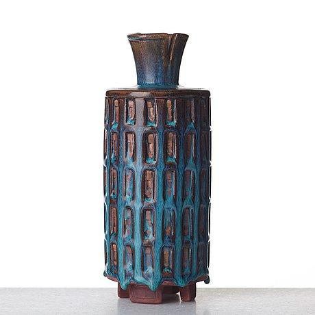 "Wilhelm kåge, a ""farsta"" stoneware vase, gustavsberg studio, sweden 1952."