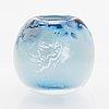 Ella varvio, a vase/ glass sculpture, signed ella jaakkola-varvio 2012.