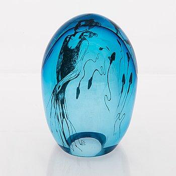 ELLA VARVIO, A glass sculpture, signed Ella Varvio 2016.