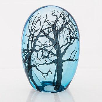 ELLA VARVIO, A glass sculpture, signed  Ella Varvio 2017.
