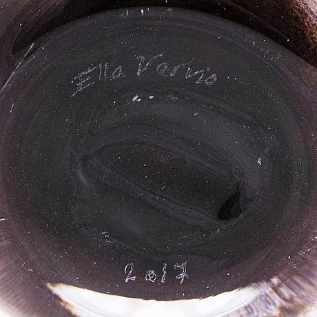 Ella varvio, a glass vase/ sculpture, signed ella varvio 2017.