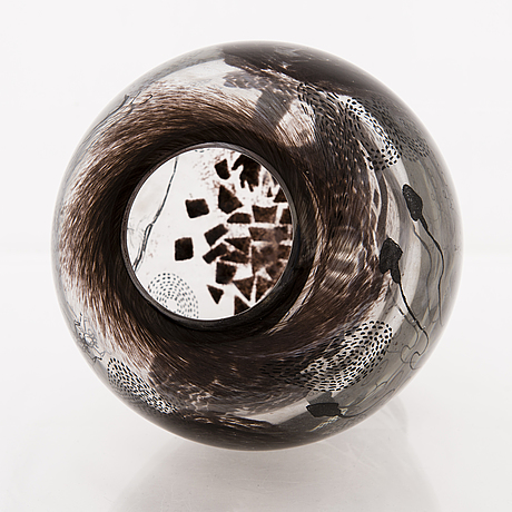 Ella varvio, vas/ glasskulptur, signerad ella varvio 2018.