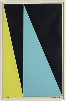 OLLE BAERTLING, silk screen in colours, signed 18/90.