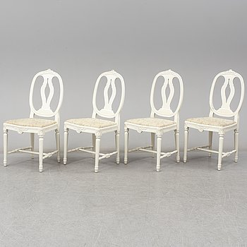 Four mid 20th century Gustavin style chairs.