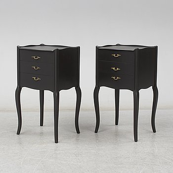 A pair of second half of the 20th century bed side tables.