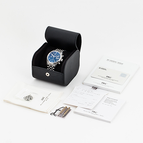 Iwc, schaffhausen, der fliegerchronograph, chronograph, wristwatch, 39 mm