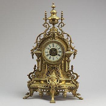 A ca 1900 brass table clock.
