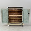 A mid 19th century painted cupboard