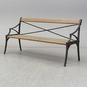 A Lessebo garden sofa, mid 19th century.