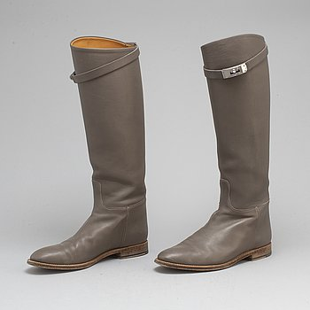 "HERMÈS, stövlar, ""Jumping leather riding boots"", storlek 37½."