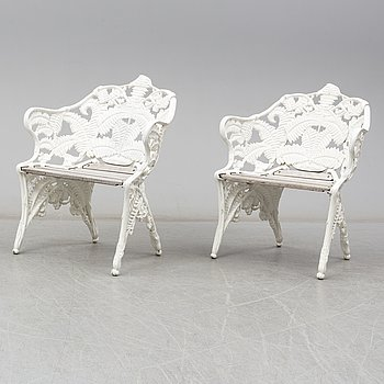 A pair of garden armchairs, second half of the 20th century.