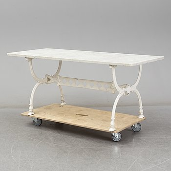 A garden table by Byarums Bruk, second half of the 20th century.