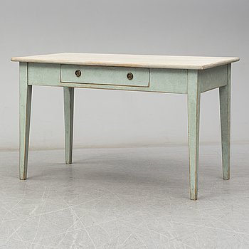 A painted table from around year 1900.