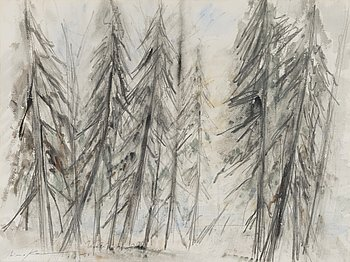 AIMO KANERVA, watercolour, signed and dated -56.