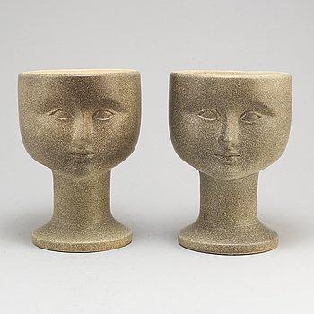 LISA LARSON, two stoneware vases from Gustavsberg.