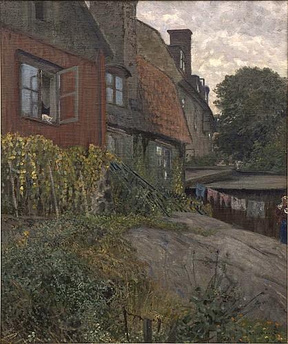 Anshelm schultzberg, oil on canvas signed.