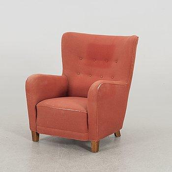 A possibly Fritz Hansen armchair, 1950's.