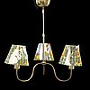 Josef frank, a set of one brass pendant and one walllamp