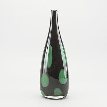 ANNE NILSSON, vas, glas, signerad, Orrefors, 1900-talets slut.