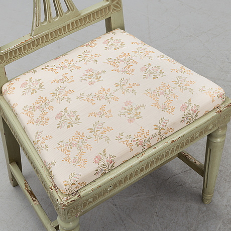 Four late 18th century gustavian chairs