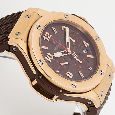 """Hublot, geneve, big bang, """"cappuccino"""", chronograph, armbandsur, 44 mm"""