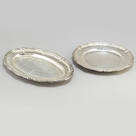 Fat, silver, 2 st, bl a k andersson, stockholm, 1909 och 1914