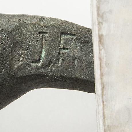 Jonas frÖding, skulptur signerad patinerad brons