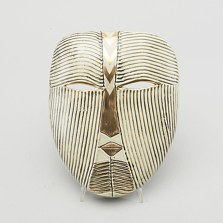 A lisa larson glazed ceramic mask signed