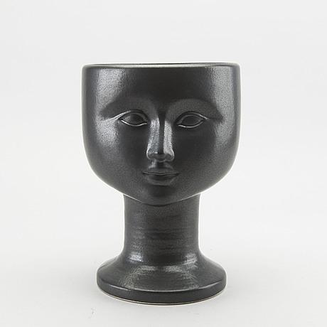 A lisa larson stoneware flower pot