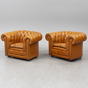A second half of the 20th Century easy chairs.