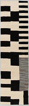 A RUNNER, flat weave, 298 x 82 cm.