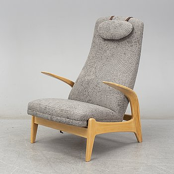 "A Rastad & Relling  ""Rock 'n rest"" armchair from Bra Bohag with fabric ""Metropolis"" designed by Claesson-Koivisto-Rune."